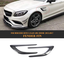 Buy C Class Carbon Fiber Front trunk Side Fender Scoops guard Mercedes Benz W205 C63 AMG 2-Door 2015 2017 2PCS Car Accessories for $313.70 in AliExpress store