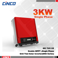 GW3000D-NS On grid inverter 3kw 230v 50/60HZ, Double MPPT single phase gird tied power inverter connected solar panel system