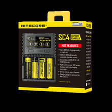 Nitecore SC4 LCD Display USB Rapid Intelligent Charger For Li-ion/IMR/LiFePO4/Ni-MH Battery(China)