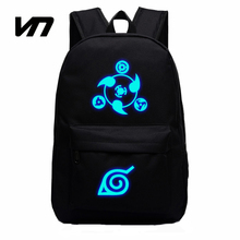 VEEVANV 2016 Naruto Luminous Rucksacks Japan Anime Printing Backpacks Luminous Backpack For Boy And Girl Fans Canvas Backpack