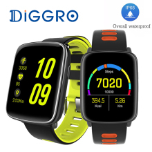 Add Free Strap! DIGGRO GV68 MTK2502 Smart Watch IP68 Waterproof BT4.0 Sport Heart Rate Clock Call Reminder For IOS/Android(China)