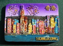 Hong Kong, China Tourist Travel Souvenir 3D Resin Decorative Fridge Magnet Craft GIFT IDEA