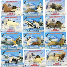 Arctic Marine Animals Killer whale Polar bear Emperor penguin Seals Beluga  Toy model