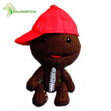 "Skyleshine Free Shipping Little Big Planet 2pcs A Lot Plush Toy Sackboy Cuddly Brown Knitted Stuffed Funny Figure Toys 7.5""(China)"