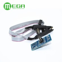 Free Shipping New 1PCS SOIC8 SOP8 Flash Chip IC Test Clips Socket Adpter BIOS/24/25/93 Programmer