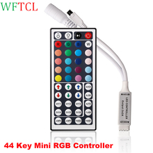 2 Pack LED Lights Strip RGB Controler DC12V mini 44 Keys IR RGB Remote Controller for SMD3528/5050 RGB SMD LED Strip lights(China)