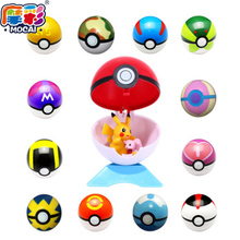 Hottest Kids 15Styles 1Pcs Pokeball + 1pcs Free Random Tiny Figures Inside Anime Action & Toy Figures for Children