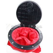 6'' 15cm Outer Diameter Marine Hatchway Cover Deck Plate Lock Hatchway and Storage Bag Kit for Canoe Boat Kayak Accessories