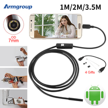 Endoskop 7mm 1M 2M 3.5M USB Android Endoscope Camera Inspection Phone Camera IP67 OTG USB Endoscoop Camera Borescope Endoscopio