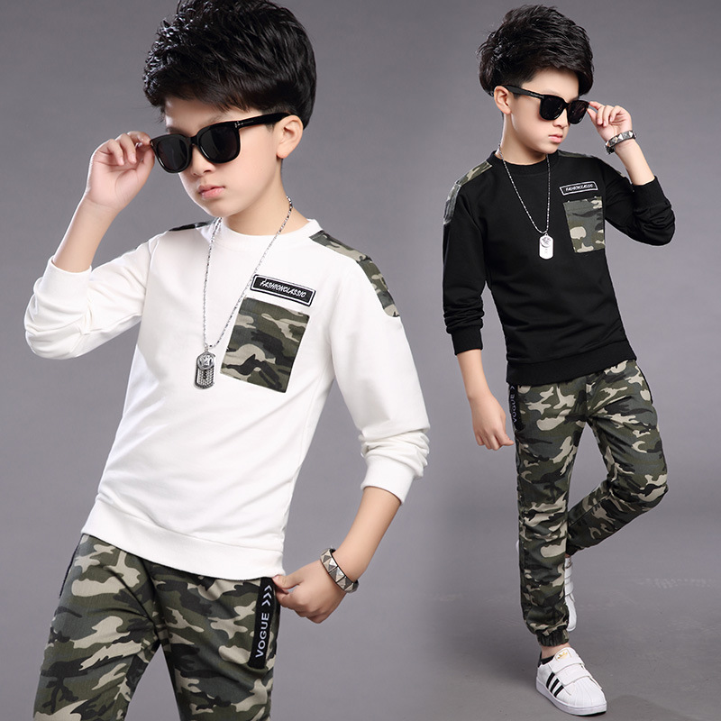 2017 Spring Autumn boys clothing sets school kids Camouflage suit sets boys sports clothing sweatshirt &amp;pants sets for boy<br><br>Aliexpress