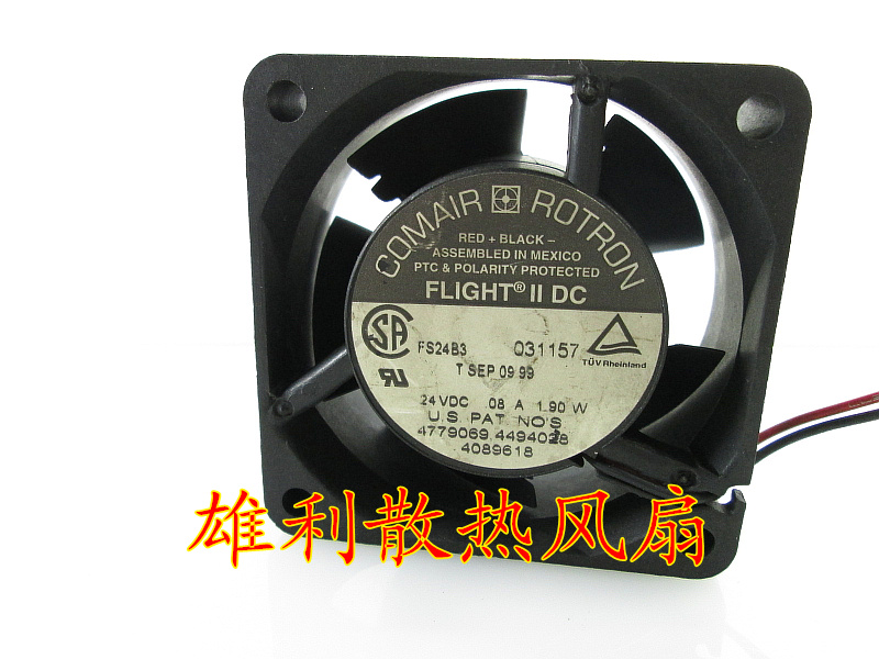 Free delivery.FS24B3 24V 0.08A 1.90W 6CM 6025 2-wire cooling fan<br>