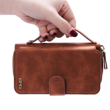 Etui 4.7 inch 5.5'' Luxury Phone Bag For Apple iPhone 6s Plus 6 Plus 5 5s SE Phone Case Retro Portable Zipper Bag Isolated Couqe(China)