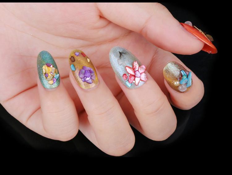 Beautiful Natural Sea Texture Shell 3d Glamor Nail Art Decoration