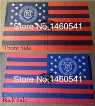 New York City FC Nation Flag 3ft x 5ft Polyester North American Soccer US Soccer Club Banner Size 4 144* 96cm QingQing Flag