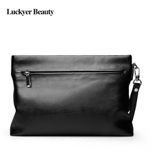 LUCKYER BEAUTY Men's Leisure Envelope Bag Famous Brand Luxury Ipad mini Handbag Fashion Man Day Clutches Casual Businessmen Bags(China)