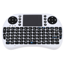 Russian Version Mini 2.4G Wireless Keyboard Handheld Air Mouse Touchpad Remote Control for Xbox360/PS3/Andriod TV Box HTPC PC(China)