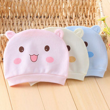 0-3 Months Cotton Tire Cap Newborn Baby Hat Headgear Sleep Hat Infant Unisex knitted toddlers Bebe Photography New Children Caps(China)