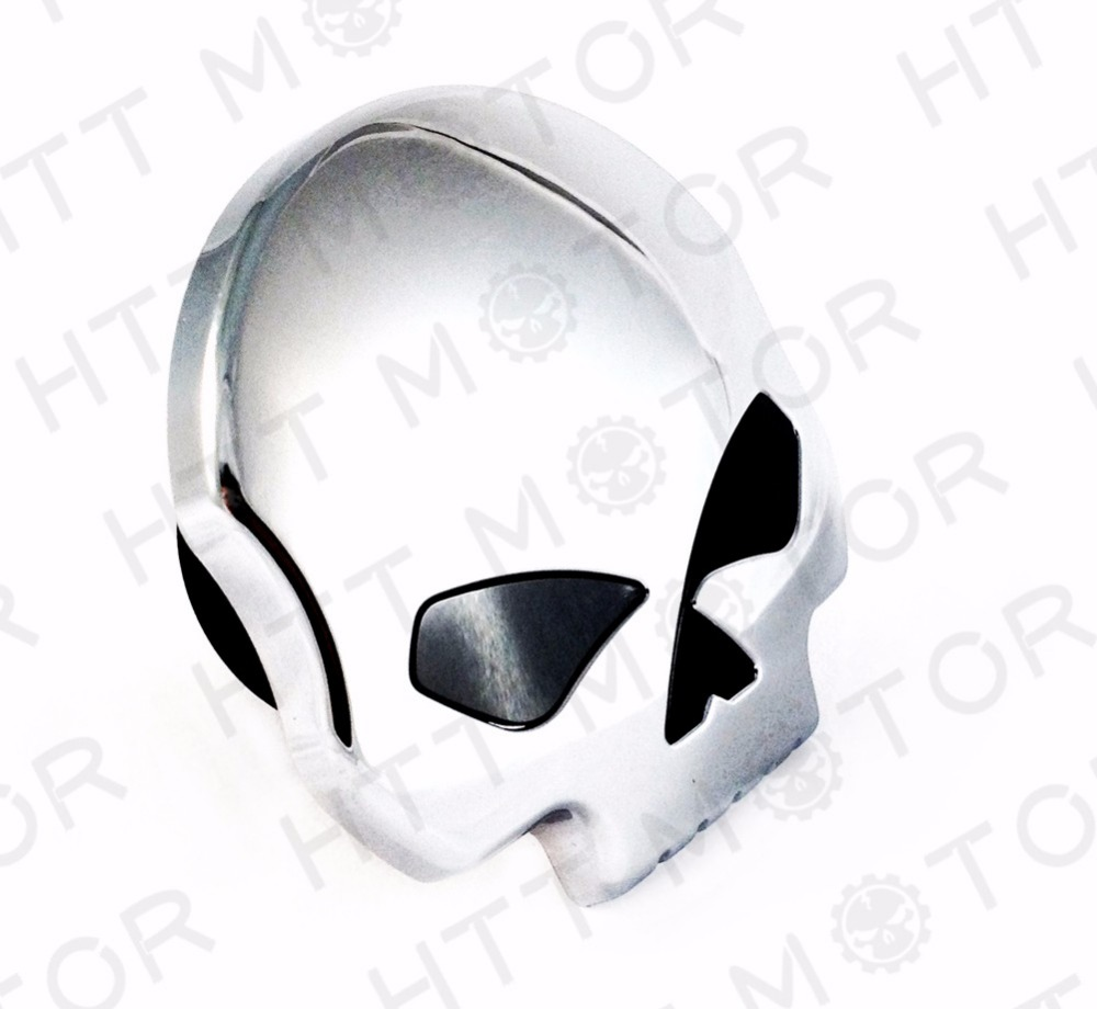 Aftermarket free shipping motorcycle parts Motorcycle Skull Fuel Gas Tank Cap Cover For Harley Dyna Softail Sportster 84-15 CD<br>