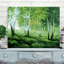 Drop Shipping 40*50 cm Madular Pictures Wall Canvas Painting Coloring By Numbers Drawing By Numbers Green Forest Unique Gift H11