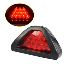 Universal Car 12 LED Rear Laser Tail Brake DRL Stop Light Auto Fog Lamp F1 Style Triangle Red Reverse Safety Parking Strobe Lamp