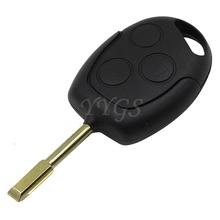 New 3 Buttons Blade Uncut Remote Car Key Shell Case Fob Covers For Ford Focus Mondeo Festiva Fusion Suit Fiesta KA Free Shipping