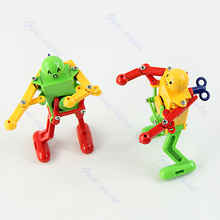 Clockwork Spring Wind Up Dancing Robot Toy Children Kids Gift(China)