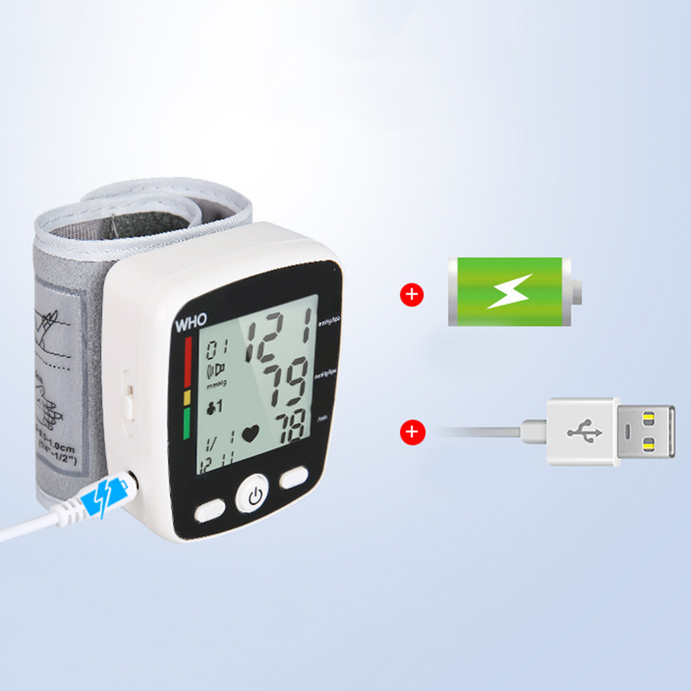 Portable Intelligent Digital Automatic Wrist Blood Pressure Monitor LCD Display Household Health Care Blood Monitors 13