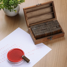 Hot Sale 70pcs/Set  Letter Number Wood Stamp AlPhabet Stamps Wooden Box Personalized Motto Handmade Hobby Sets Free Shipping