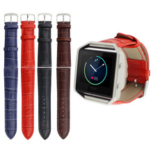 Red Blue Brown Black Crocodile Genuine Leather Strap for Fitbit Blaze Tracker Bracelet Replacement Real Leather Watch Band