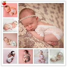 Hot Sale 2017 New Newborn Photography Props Baby Lace Romper Fotografia Princess Costumes Clothes For Infantil Girls Accessories