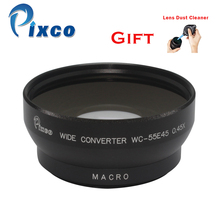 55mm 0.45X Wide Angle Lens with Macro suit For Canon +with Rubber Air Blower Pump Dust Cleaner