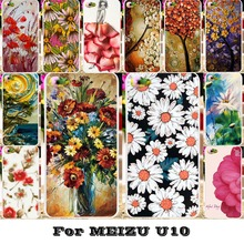 Soft TPU Hard Plastic Phone Cases Meizu Meilan U10 U680H Housing Covers Skin Back Flower Painted Hood Shell Case - WEE store