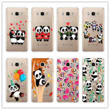 Lovely gentle Cartoon panda Case For Samsung Galaxy A3 A5 J5 J7 A310 A510 J510 J710 2016 Hard plastic case cover PC phone cases