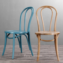 Minimalist Modern Design Classic bent solid wood Chair Famous Design Furniture Dining Cafe Coffee Shop loft wooden Chair 2PCS