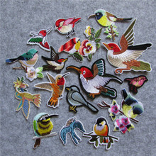 brand new fashion style mixture bird patterned hot melt adhesive patches stripes DIY embroidery sewing accessories decals