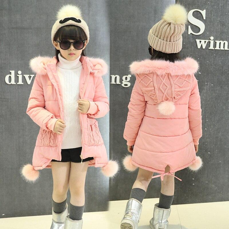 OLEKID 2017 New 5-14 Years Children Winter Outerwear Coat Hooded Thick Warm Long Jacket For Girl Brand Teenage Girl ParkaÎäåæäà è àêñåññóàðû<br><br>