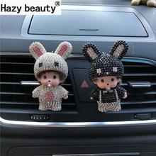 Hazy beauty, long ears, rabbit, gentleman, car perfume Air freshener, car air conditioner, air outlet decoration Car-styling(China)