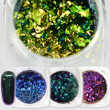1 box Chameleon 27 Colors 3D Flakes Sequins Nail Glitter Powder Dust Mirror Chrome Pigment Nail Art Sheets Decorations TRBS01-27