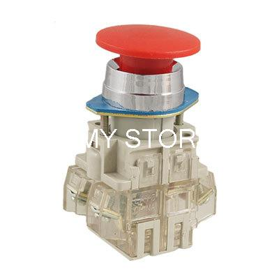 35mm Red Sign Ignition Mushroom Momentary Push Button Switch 22mm 7/8 1 NO 1 NC<br><br>Aliexpress