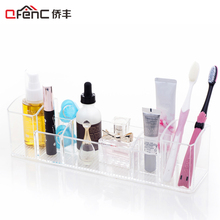 QFENC Clear Med Bathroom Organizer Toothbrush Holder Makeup Storage Organizer Toothbrush Organizer Makeup Organizer