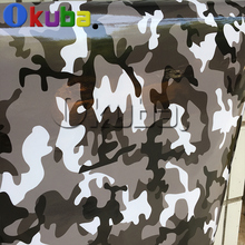 New Arrival Gloss Finished Black White Grey Camo Film Snow Camouflage Vinyl With Air Bubble Free FOR Vehicle Truck Decal