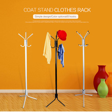8 Hook Rotating Hanger Coat Hat Bag Clothes Rack Umbrella Garment Holder Stand Metal Hanger Organiser Home Decor