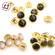New arrived 10pcs/lot beautiful high quality decoration gold metal buttons snaps sewing crafts for women clothing scrapbooking