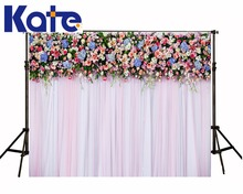 Kate Lawn Wedding Background Wooden Flower Stands Outdoor Wedding Background Cloth Customize Seamless Photo For Studio Custom