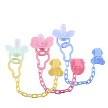 Mambobaby Baby Pacifier Clips Chain Silicone Teething Newborn Toy Soother Pacifer Holder Dummy Nipple Safe Baby Teether Clip(China)