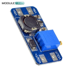 5pcs free shipping MT3608 DC-DC Step Up Power Apply Module Booster Power Module MAX Output 28V 2A For Arduino