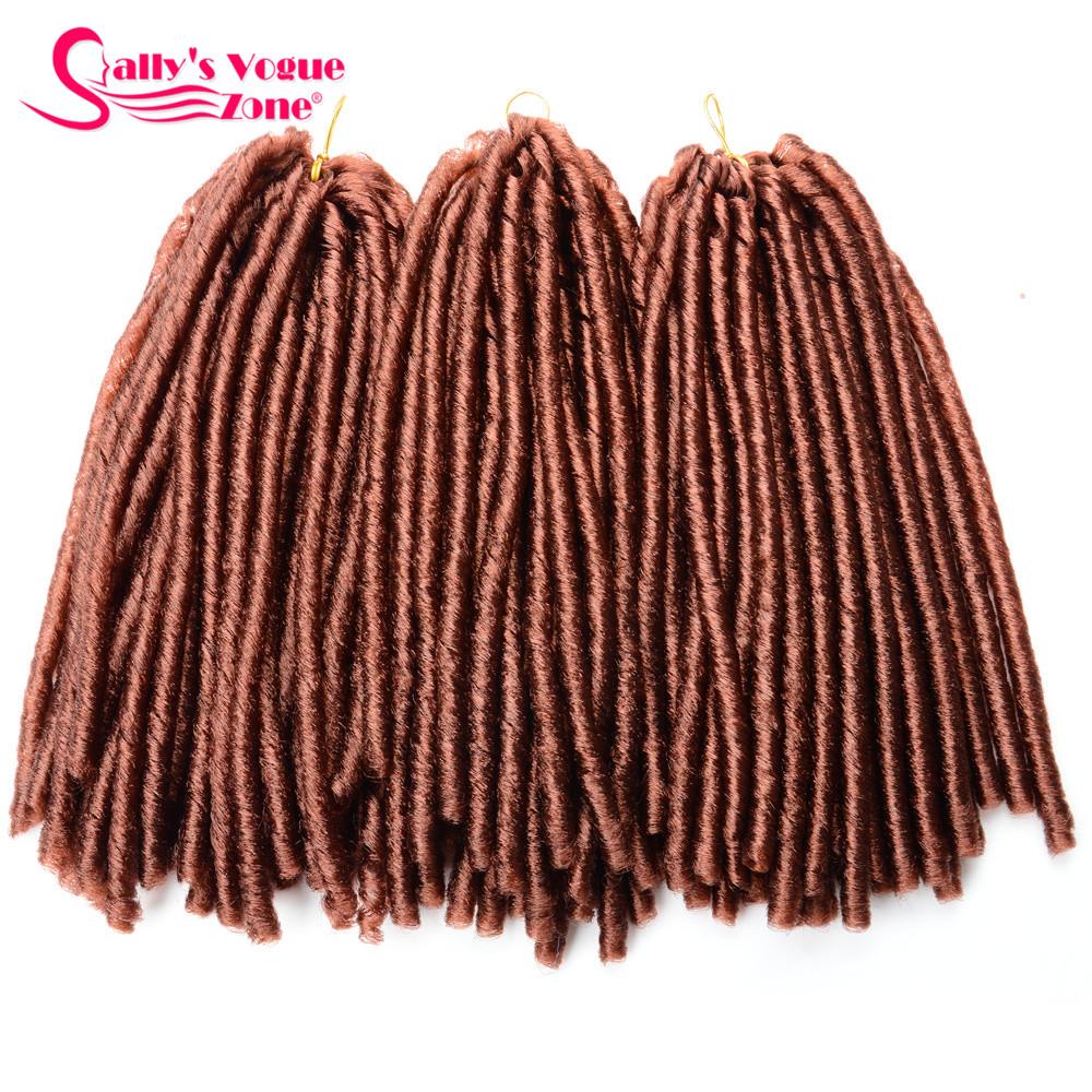 24 Roots Faux LocsCrochet Hair 18 Crochet Faux Lock Dreadlock Crochet Braids hair Extensions Synthetic Braiding hair Soft lock (110)_