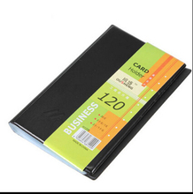 Portable 120 Cards card holder Enterprise business card Note Holder Keeper Card Organizer(China)