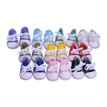 "Fashon 9 Color Canvas Shoes For 18 "" American Girl Doll 45cm Doll Accessories,Children best Birthday Gift (wholesale 5pcs/lot)"