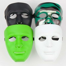 2017 Adult Children Hip hop Face Blank Masquerade Mask Venetian Cosplay Costume Party Show Party Decoration Supplies Accessories